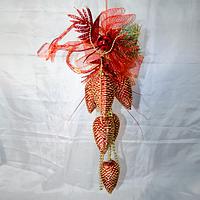 Новогодние украшение 60 см (сосновые шишки 11 см), фото 1