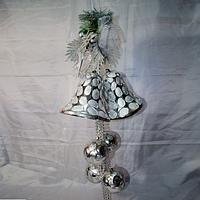 Новогодние украшение 90 см (шары 10 см, колокол 18 см), фото 1