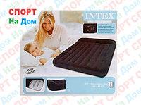 Черный надувной матрас Intex 66769 с подголовником
