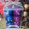 Набор новогодних ёлочных игрушек - 12 шт (O 5,5 см)