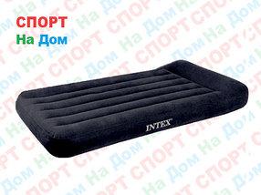 Черный надувной матрас Intex 66770 с подголовником