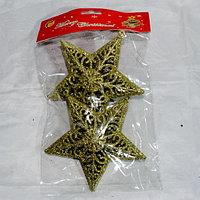 """Новогодние игрушки на ёлку """"Звезда"""" - 2 шт, фото 1"""