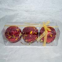 Набор новогодних ёлочных игрушек - 3 шт-Красный, фото 1