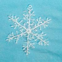 """Новогодние игрушки на ёлку """"Снежинка"""" - 3 шт -17 см"""