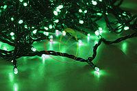 Светодиодная гирлянда LED 100 светодиодов, зеленый/белый