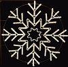 "Светодиодная фигура ""Снежинка"" белая, 29W 120х120 см"