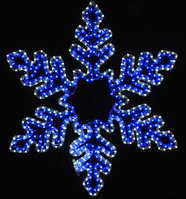 "Светодиодная фигура ""Снежинка"" белая/синяя, 19W 80х80 см"