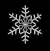 "Светодиодная фигура ""Снежинка"" белая, 27W 92х92 см"