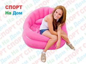 Надувное кресло Розовое с подушкой Intex 68563