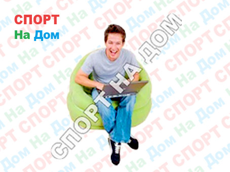 Надувное кресло Зеленое с подушкой Intex 68563
