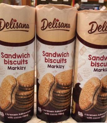 Печенье с шоколадной начинкой Сендвичи 300гр. Delisana
