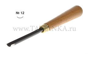 Стамеска прямая - полукруглая № 12,  10 мм