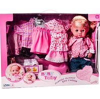 Кукла пупс Валюша Baby Toby с аксессуарами и одеждой.
