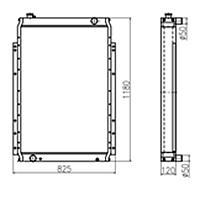 Радиатор экскаватора Komatsu PC270-7