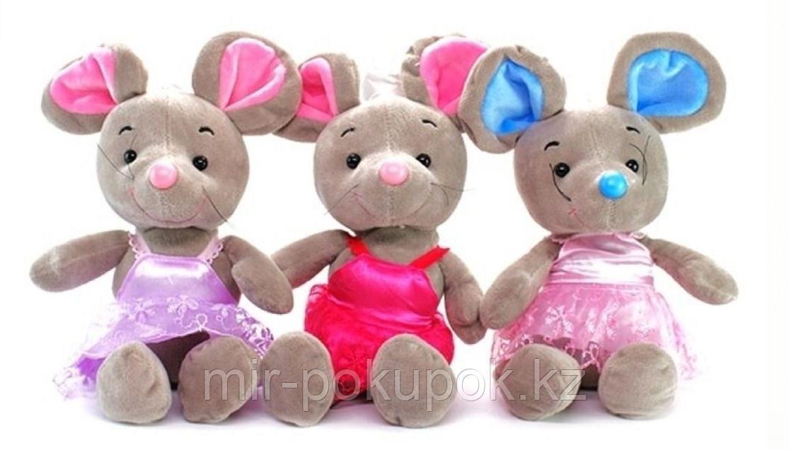 Мышка Тедди мягкая игрушка 30 см