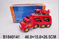 Трейлер автовоз машинка, пожарная машинка