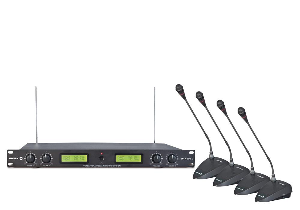 Беспроводная микрофонная дискуссионная система WORK WR 4000(H)