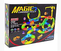 Автотрек Magic Tracks (Мэджик Трек) со светящейся машинкой - 253 детали