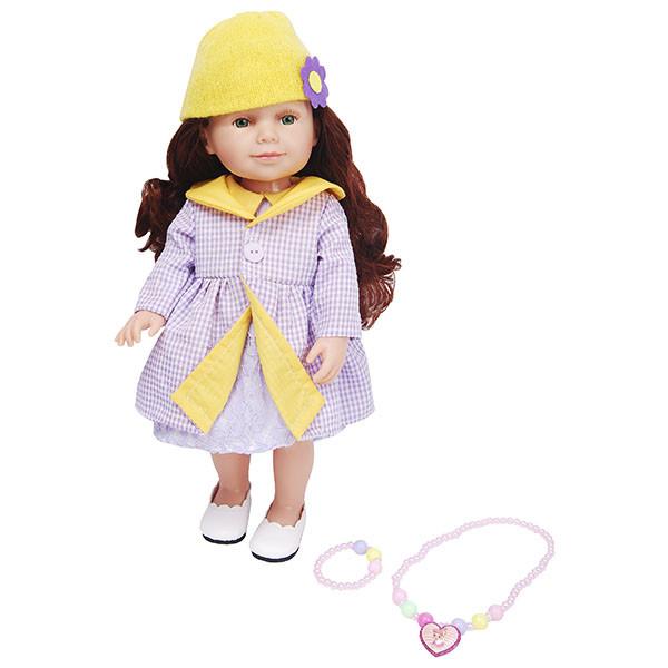 Lilipups Кукла Шатенка в пальто лавандового цвета, 40 см с аксессуарами