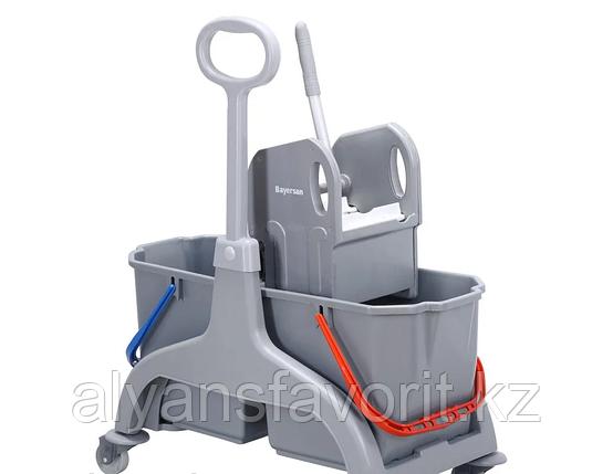 Тележка двухведерная для уборки Eco 2*25 литров. (боковая ручка). Турция, фото 2