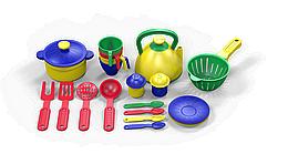 """Казик Игровой набор посуды """"Поварёнок"""", 33 предмета"""