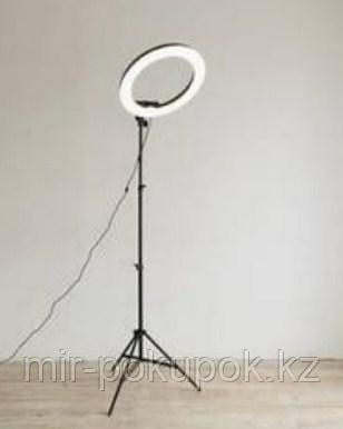 Лампа для визажиста кольцевая, лампа для фотографа на подставке напольная, Алматы
