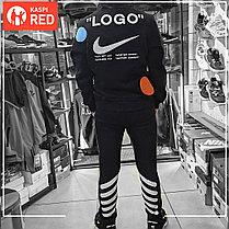 Зимний спортивный костюм Nike Off White утепленный, фото 3