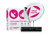 """Комплект спутникового телевидения""""ТЕЛЕКАРТА"""" с пакетом """"Премьер+"""" на 3 года!!!"""