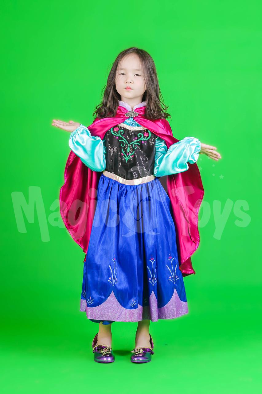 Карнавальное платье Анны из мультфильма «Холодное сердце»