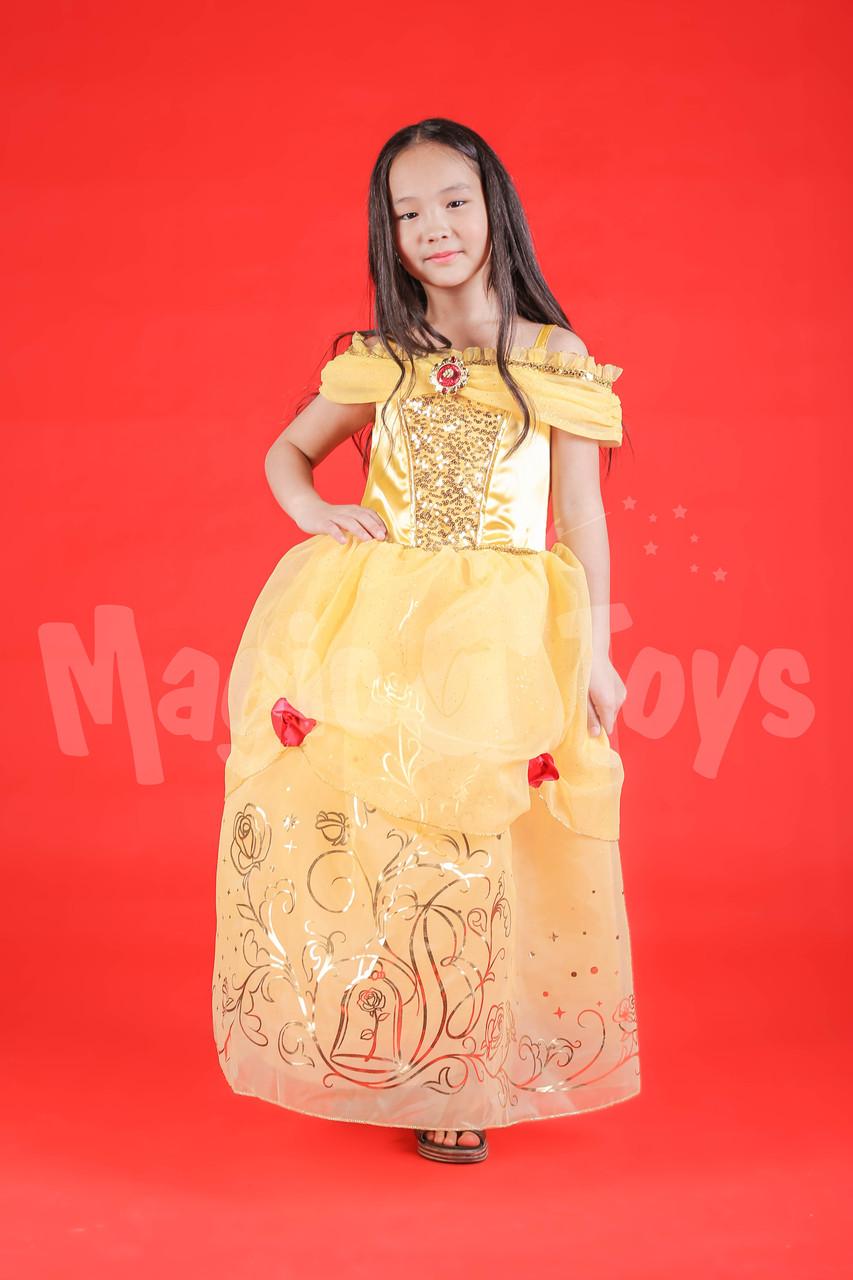 Новогодний костюм Белль для девочек