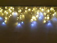 Новогодняя гирлянда уличная. Бахрома 3 метра на 80 см. Наружная, фото 1