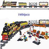Конструктор аналог Лего LEGO City Электромеханический Zhe Gao Rail Transit QL0313 классический поезд 1464 дета, фото 4