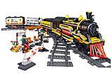 Конструктор аналог Лего LEGO City Электромеханический Zhe Gao Rail Transit QL0313 классический поезд 1464 дета, фото 6