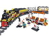 Конструктор аналог Лего LEGO City Электромеханический Zhe Gao Rail Transit QL0313 классический поезд 1464 дета, фото 8