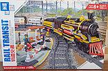 Конструктор аналог Лего LEGO City Электромеханический Zhe Gao Rail Transit QL0313 классический поезд 1464 дета, фото 9