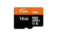 Карта памяти Team Group Micro SDHC/SDXC 16GB UHS-I TUSDH16GCL10U02 BLACK, R/W: up to 80/15 MB/s, No Adapter