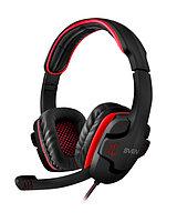 Игровые стереонаушники с микрофоном SVEN AP-G855MV, черный-красный