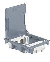 Коробка напольная серая 10 модулей глубиной 65мм