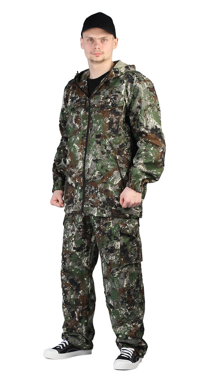 """Костюм """"Турист 2"""" летний мужской. Цвет: кмф зеленая сетка"""