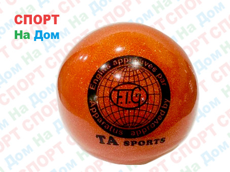 Мяч TA sports для пилатеса, художественной гимнастики (цвет красный)