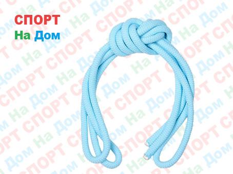 Скакалка гимнастическая голубая (однотонная, 3 метра)