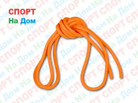 Скакалка гимнастическая оранжевая (однотонная, 3 метра)