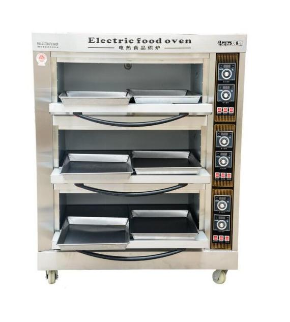 Пекарский шкаф электрический, 3 секции 6 противней