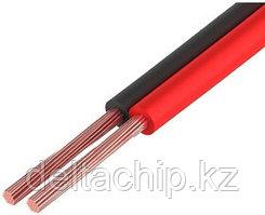 Кабель акустический ШВПМ медный 2х0.3 мм², красно-черный