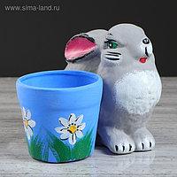 """Горшок для цветов """"Кролик"""", 0,28 л, микс"""