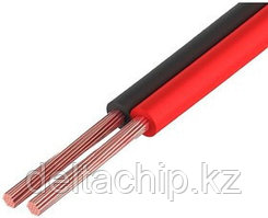 Кабель акустический ШВПМ медный 2х1 мм², красно-черный
