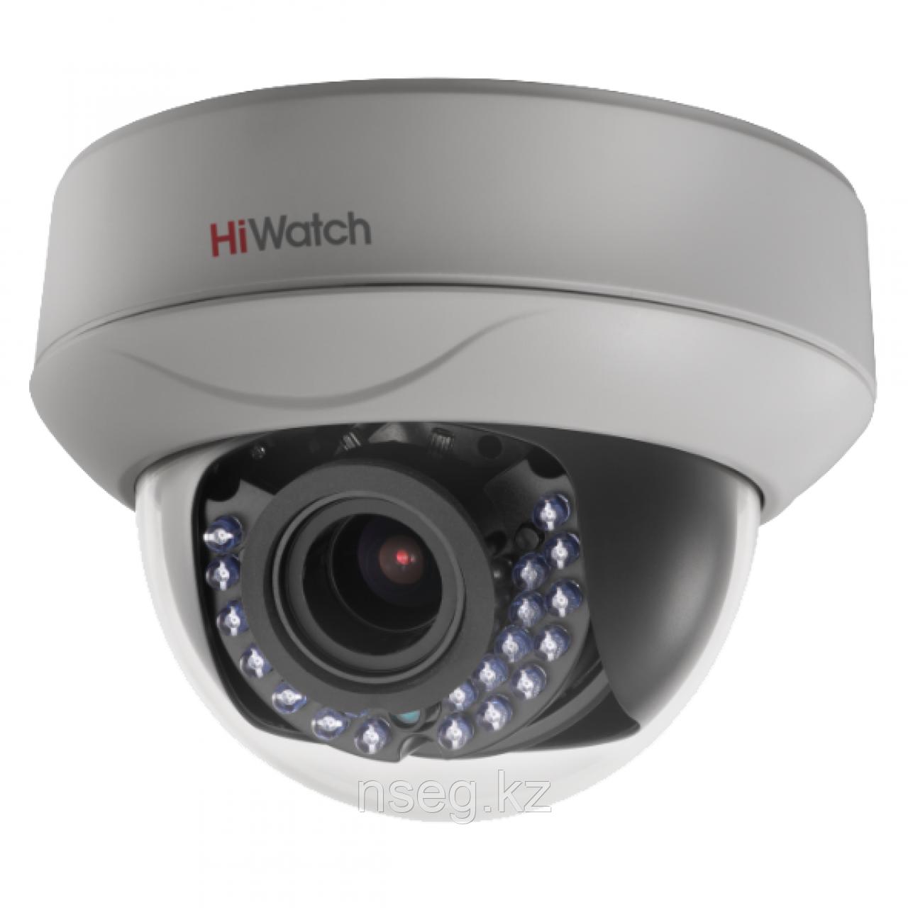 HiWatch DS-T208S 2Мп внутренняя купольная HD-TVI камера с ИК-подсветкой до 60м