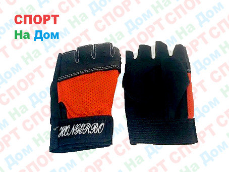 Перчатки для фитнеса, атлетические Размер 4XS (цвет черный, красный), фото 2