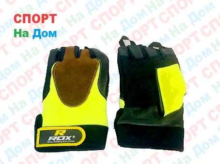 Перчатки для фитнеса, атлетические Rox Размер M (цвет желтый)