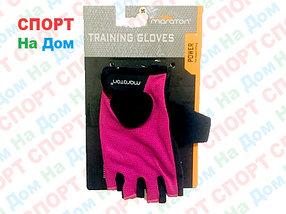 Перчатки для фитнеса, атлетические Maraton Размер S (цвет розовый, черный)